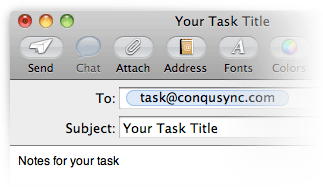 Tasks by email
